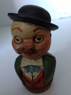 Anri Woodcarving Old Bottle Stopper by SylviasFinds on Etsy, $10.00