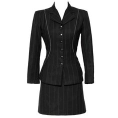 ALAIA Pinstripe Suit | From a collection of rare vintage suits, outfits and ensembles at http://www.1stdibs.com/fashion/clothing/suits-outfits-ensembles/