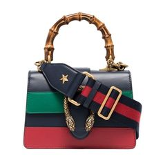 Gucci Blue Green And Red Dionysus Mini Top Handle Bag - Farfetch Shopping Chanel, Round Bag, Gucci Handbags, Blue Bags, Vintage Chanel, Bag Accessories, Fashion Backpack, Purses And Bags, Dionysus