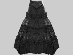 Bonfire, schwarzer Rock von the-black-angel.com, Gothic, cool black skirt for goth wedding