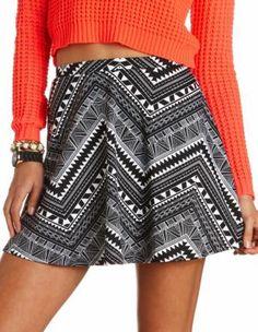 Aztec Ponte Skater Skirt