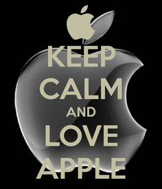 'KEEP CALM AND LOVE APPLE' Poster