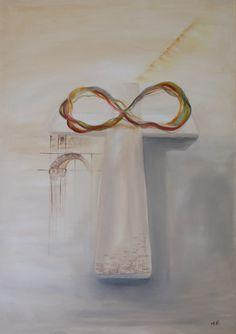 Infinite wonders, cm, by Ildikó Mecséri (MEIL) Oil Painting On Canvas, Canvas Art, Original Art, Original Paintings, Christian Art, Infinite, Buy Art, Saatchi Art, Jesus Cross