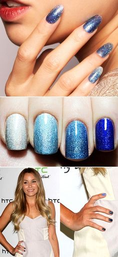 Blue ombre! Did this to my nails the other day!