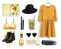 """Yellow autumn"" by lostandfound92 ❤ liked on Polyvore featuring Moleskine, Hinge, STELLA McCARTNEY, Christian Dior, Chanel and River Island"