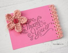 Repeat Crafter Me: Note Card with Crochet Edging