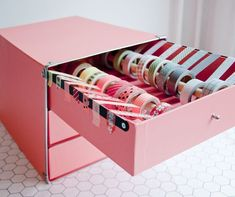 excellent storage ideas for your craft room DIY Washi Tape Drawers - Awesome DIY Craft Room Organization Ideas To Steal Right Now!DIY Washi Tape Drawers - Awesome DIY Craft Room Organization Ideas To Steal Right Now! Craft Room Storage, Craft Room Desk, Craft Organization, Stationary Organization, Diy Stationary Storage Ideas, Craft Rooms, Organizing Ideas, Diy Washi Tape Organizer, Washi Tape Diy