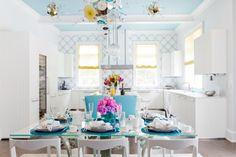 Blue color in kitchen interior design