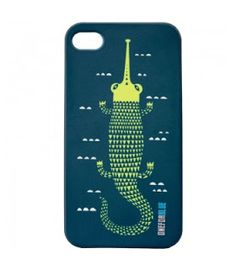 The Snooty Joe' Iphone cover is in support of the 'Gharial', the native Indian crocodile named after the 'Ghara' - a mud vessel with a long snout. Did you know that the Gharial is deeply endangered and only 200 survive today?. Eazelly : Hand made, Heart made and Thoughtfully sourced: ALL FOR BLUE