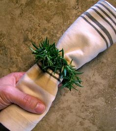 Herb Napkin Rings | Flickr - Photo Sharing!