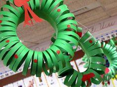 easy to make christmas wreath green cardboard