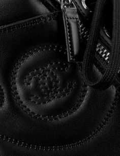 CHANEL Calfskin Zipped Sneakers, Black