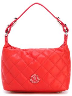 d130268d545 Moncler small quilted tote, Women s, Red   Shener Chelebi on WeShop. Red  LeatherLeather PursesLeather HandbagsTote ...
