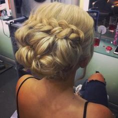 Formal braid and bun by Amy Louise Cross