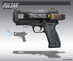 Pulsar Gun, Piotr Kupsc on ArtStation at https://www.artstation.com/artwork/pulsar-gun