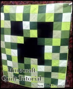 MineCraft Creeper Quilt DIY | SewMod