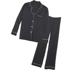 Cosabella Bella Longsleeve Top & Pants Pj Set (384345702) ($139) ❤ liked on Polyvore featuring intimates, sleepwear, pajamas, long sleeve sleepwear, cosabella, long sleeve pajamas, cosabella pajamas and button up pajamas