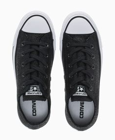 Converse - Stingray Leather Allstar Ox Trainers - Black - Shoes & Trainers - Womens