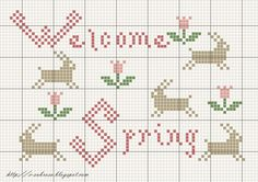 Welcome Spring, free chart by SubRosaDesign