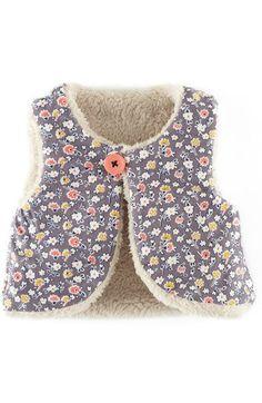 Mini Boden Reversible Fleece Vest (Baby Girls) - reagan has Sewing For Kids, Baby Sewing, Kids Vest, Hippie Baby, Baby Dress Patterns, Baby Coat, Diy Couture, Fleece Vest, Baby Kind