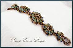 Penny Dixon Designs Tilt-A-Whirl bracelet as seen in Oct/Nov. edition of Beadwork Magazine