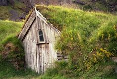 A traditional turf house in Iceland - the Norse built like this, and the early Canadian settlers in the prairies did as well. Very energy efficient and self insulating.