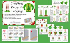The Christmas Receptive Language Packet is 44 pages in length. It features the following learning objectives: answering WH questions, following directions, listening comprehension and inferencing.