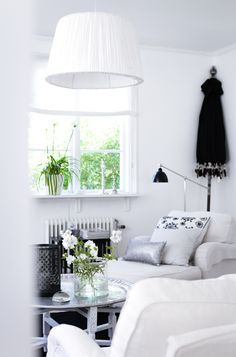 Layered pillows. Silver, gray, black and white. <3