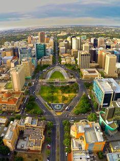 An amazing image of Victoria Square, Adelaide, South Australia Melbourne, Brisbane, Perth, Australia Living, Australia Travel, Visit Australia, Tasmania, City Of Adelaide, Adelaide Sa