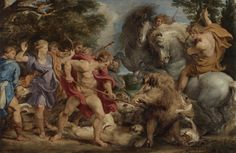 The Calydonian Boar Hunt; Peter Paul Rubens (Flemish, 1577 - 1640); Belgium; about 1611 - 1612; Oil on panel.