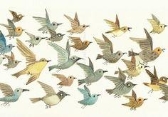 Vogels uit Otje - Fiep Westendorp - postzegelerop