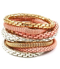 Don't Mesh With Me Stackable Braclets