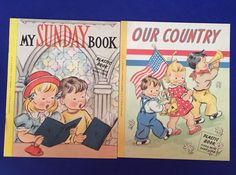 2 Vintage Childrens Books 1956 A Little Book For Little People Gibson & Co