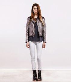LOVE!  Metallic Colby Leather Jacket, Women, Leather, AllSaints Spitalfields