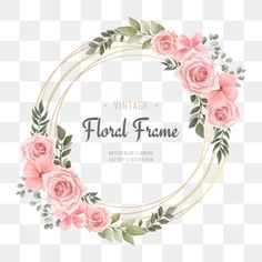 Vintage wedding watercolor flower frame PNG and Vector Watercolor Flower Background, Watercolor Leaves, Watercolor Pattern, Watercolor Wedding, Floral Watercolor, Vintage Photo Frames, Photo Vintage, Floral Invitation, Invitations