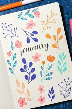 Check out the 30 best January BULLET JOURNAL monthly cover ideas for inspiration!