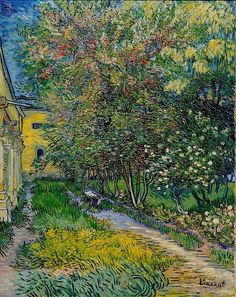 Vincent van Gogh (Dutch, 1853-1890) - Garden of Saint-Paul Hospital