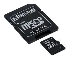 Kingston SDC4 Micro SDHC 8GB Class 4 Speicherkarte (inkl. microSD zu SD Adapter) - http://uhr.haus/kingston/kingston-sdc4-8gb-micro-sdhc-8gb-bis-zu-4mb-s-klasse