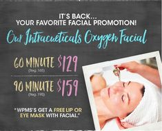Our skincare special for this month is our extremely popular Oxygen facial using @intraceuticals_official . Rejuvenate, hydrate and plump your skin with this effective treatment. Don't miss this amazing opportunity! #oxygenfacial #intraceuticals #skincare #skintreatment #belladora #belladoraspa #carlsbad