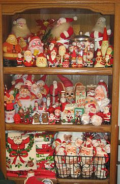 Santa Claus collection. Maybe make a wreath or feather tree with these little guys!