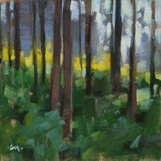 """Daily+Paintworks+-+""""Forest+on+Fire""""+-+Original+Fine+Art+for+Sale+-+©+Carol+Marine"""