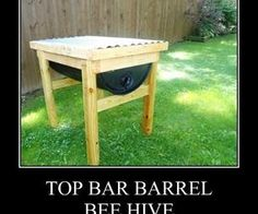 This has really great instructions on how to construct your own top bar hive using plastic barrels. I am hoping to make 2 hives out of my barrel for less than $100. Wish me luck!