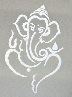 ganesha glass painting in white Ganesh Tattoo, Ganesha Painting, Ganesha Art, Mehndi, Henna, Indian Gods, Indian Art, Ganesh Design, Diwali Decorations