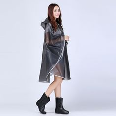 EVA Fashion Sexy Girls Women Lady Vinyl Rain Cape Jacket Women Long Sleeve Rain Coat Rainwear Waterproof Raincoat For Traval-in Raincoats from Home & Garden on Aliexpress.com | Alibaba Group #RaincoatsForWomenLongSleeve #raingarden