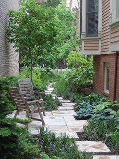 Outdoor Garden Rooms, Outdoor Living, Small Backyard Landscaping, Landscaping Ideas, Gravel Landscaping, Diy Terrasse, Side Garden, Garden Path, Home Garden Design