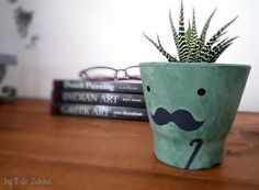 Omg mustache planter.. haha. I hate the whole mustache fad, but this is pretty rad.