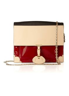 Jason Wu Jourdan patent and leather shoulder bag