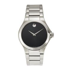 Previously Owned Movado Men's Watch Masino 0607033 Men's Watches, Movado Mens Watches, Fashion Watches, Cheap Watches, Stainless Steel Bracelet, Stainless Steel Case, Black Quartz, Luxury Watches For Men, Watch Brands