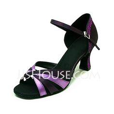 Satin Heels Sandals Latin Ballroom Dance Shoes (053013161) - JJsHouse