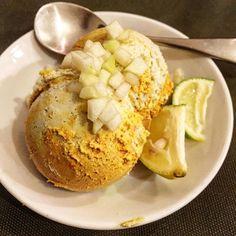 Raw mix ice cream. This orange is a color of gojiberry. オレンジ色はゴジベリーから。 発酵させたカシューナッツ入り。 発酵パワーで、シュワシュワした食感が。 至福のお味です。 ごちそうさまでした。  四谷三丁目のOne Kitchen にて 「TABIの音楽会」 カリンバ・ディジュリドゥ・ホーミー  脳みそが蘇った!! ありがとうございます!! 耐えて耐えて耐えて、生きてると たまには、こんなご褒美があるのです。 ありがとう。 これが、人生の醍醐味ね。  #vegan #plantbased #rawfood #rawfoods #rawicecream #veganfoodshare #crueltyfree #veganfood #veganfoods  #whatveganseat #vegansofig #veganfoodporn #veganfoodlovers #dairyfee #sugarfree #eggfree #GlutenFree #ヴィーガン #ビーガン#ローフード #TABI #TABI食堂…
